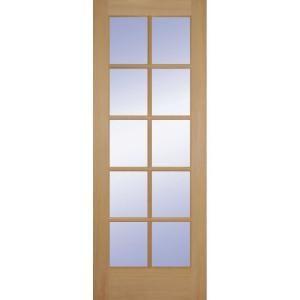 Feather River Doors 36 In X 80 In 15 Lite Illusions Smooth Primed Mdf Interior Door Slab Pn15013068g605 Doors Interior French Doors Interior Glass Doors Interior