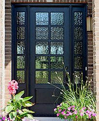 10 Lite Mahogany Entry Door With Flemish Glass 8 Exterior Doors With Sidelights 8 0 Solid Mahogany Exterior Doors Single Exterior Doors Wood Exterior Door