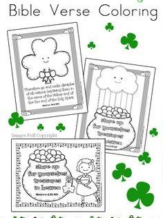 St Patrick S Day Bible Verse Coloring Pages St Patrick Day Activities St Patricks Day Crafts For Kids St Patrick S Day Crafts