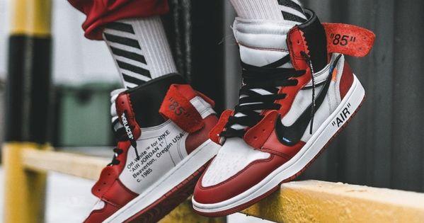 Off White X Air Jordan 1 On Feet Preview Sneakers Men Fashion