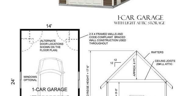 Traditional one car garage has 9 ft wall height big 9 for 10 foot high garage door