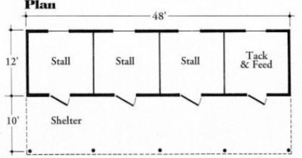 3 Stall Barn Maston Homes Equine Barn Plans