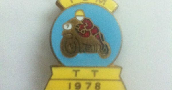 vintage isle of man tt 1978 motorcycle racing enamel pin badge isle of man pin badges pinterest. Black Bedroom Furniture Sets. Home Design Ideas