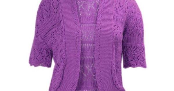 Bolero cardiga knitted Bolero shrug crochet plus size short sleeve cardigan Z10