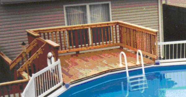 10 X 10 Platform Deck For A 21 Pool At Menards Building A Deck Platform Deck Deck