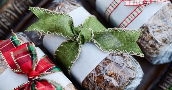 How to wrap baked goods pinterest gift wrapping food for Homemade baked goods gift basket ideas