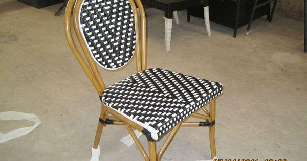 Moderne noir et blanc canne sans bras chaise chaise for S asseoir sans chaise