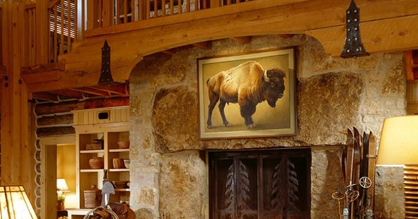 cool western style living room | Meanwhile Ranch living room by Kevin Corn Design. Great ...