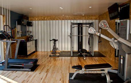 Garage Into A Home Gym Monkey Bar Storage Gym Room At Home Garage Gym Design Garage Gym