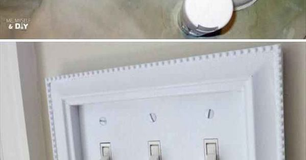 Inexpensive craft store frames fit perfectly around your light switch covers. |