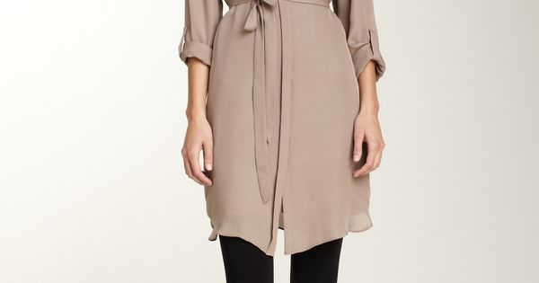 Ryder Silk Shirt Dress...looking for this in red or emerald green?