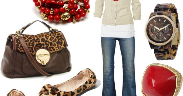 """Red Leopard"" created by jnifr, polyvore fashion style Fat Face J Brand"