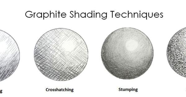 graphite shading techniques  hatching  creating dark value