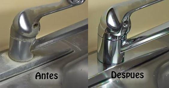 Cómo Quitar La Cal O Sarro De Los Grifos Dicas De Limpeza Dicas Domésticas Produtos De Limpeza Caseiros