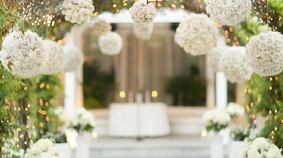 All White Indoor Wedding Ceremony Site: 60 Simple & Elegant All White Wedding Color Ideas