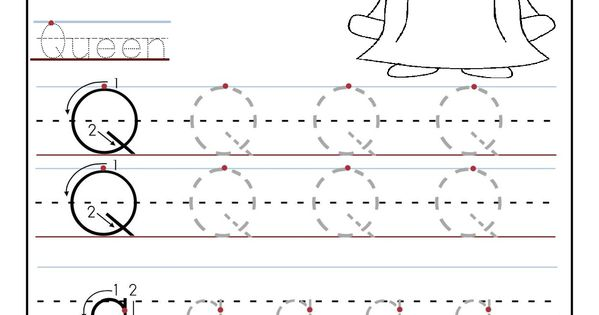 printable letter q tracing worksheets for preschool word work pinterest tracing worksheets. Black Bedroom Furniture Sets. Home Design Ideas