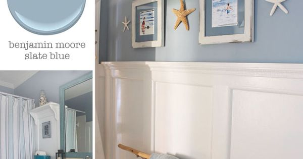 Bathroom benjamin moore slate blue pretty handy girl coastal decor pinterest benjamin