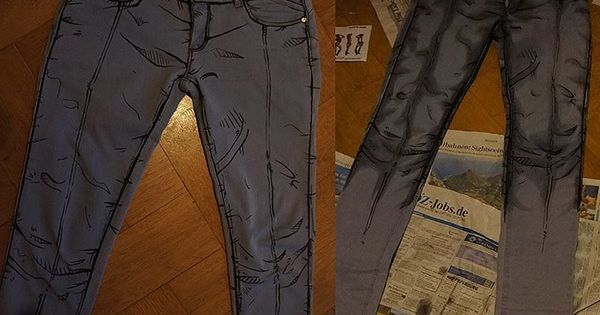DIY Comic Book Jeans first seen at Fashionably Geek. These were made