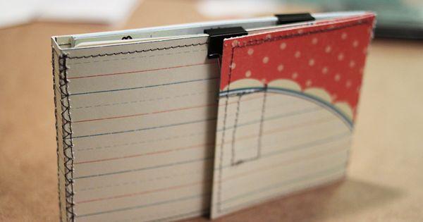 4x6 Index Card Folder Tutorial Amanda Hawkins Index Cards Diy Index Cards Index Card Holders