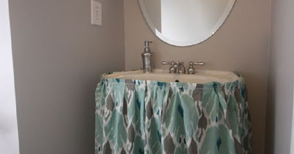 Top 10 Easy DIY Sink Skirts | The pipe, Easy diy and Empty ...