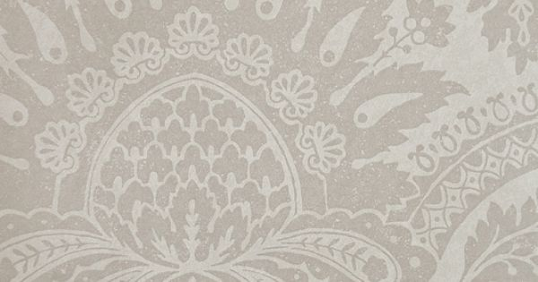 Pomegranate Taupe Damask Wallpaper | Traditional ...