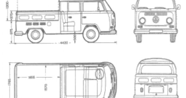 car blueprints    1969 volkswagen t2 a crew cab pick