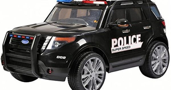 Kids Police Car Range Rover Style 4x4 12v Electric Battery Ride On Car Jeep Black By Epic Kids Police Car Toy Police Cars Kids Police