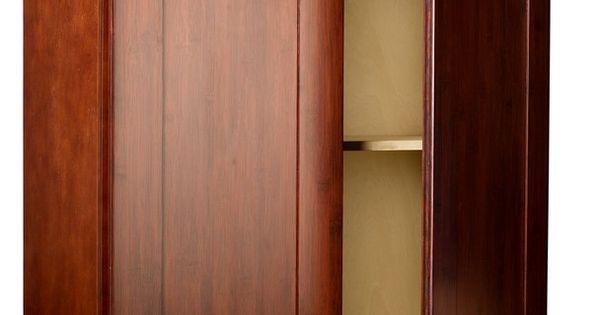 Brazilian cherry shaker bamboo kitchen cabinets solid for Bamboo kitchen cabinets for sale