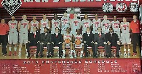 New Mexico Lobos Men S Basketball Unm Roster Poster Signed Alex Kirk Lobo Nation Mens Basketball Basketball Posters New Mexico