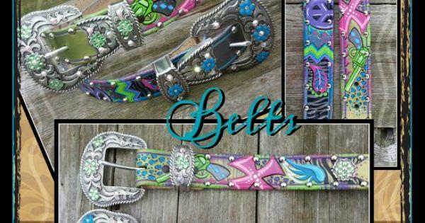 find me on fb hand painted belts leather bling sassy. Black Bedroom Furniture Sets. Home Design Ideas