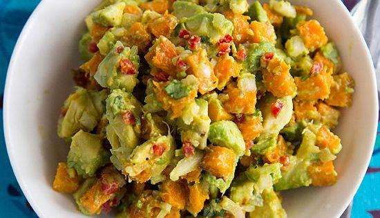 Fast-Fix Fall Recipes, via Better Homes & Gardens, Roasted Pumpkin Guacamole