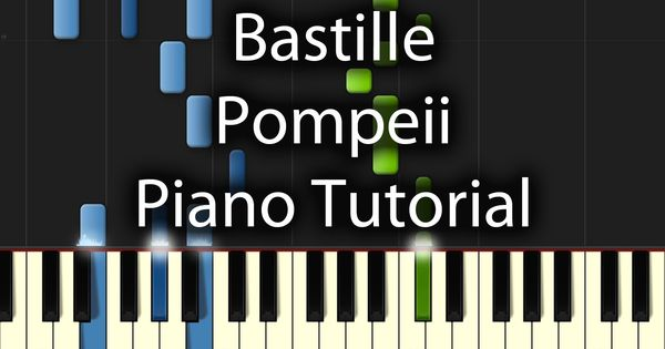 bastille pompeii piano sheet music easy