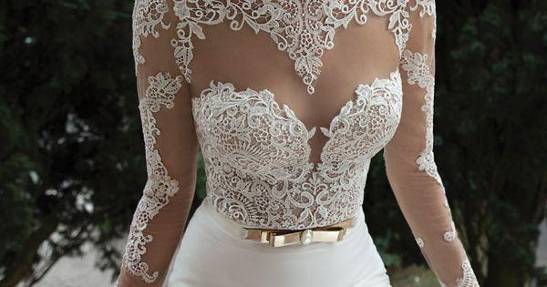Beautiful Style Elegant Sweetheart Sexy Backless Lace Long Sleeve Wedding Dresses Mermaid