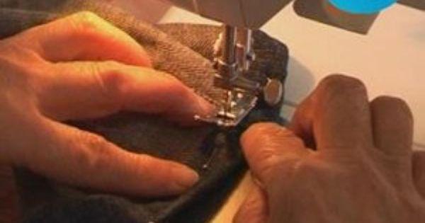 couture comment faire un ourlet sur un jeans ou un pantalon avec une machine coudre marie. Black Bedroom Furniture Sets. Home Design Ideas