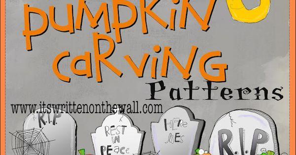 Halloween Crafts: Free Pumpkin Carving Stencils