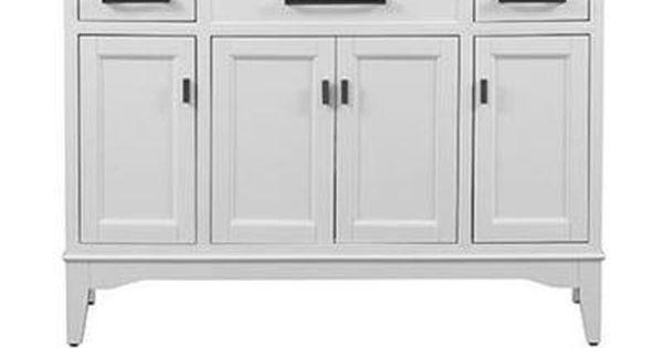 Home Decorators Collection Manor Grove 49 In Vanity In White With Granite Vanity Top In Black