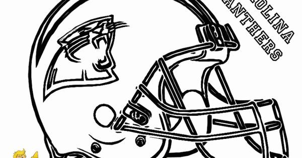 Carolina Panthers Football helmet coloring pages Sports