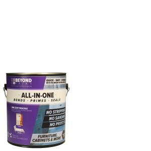 Beyond Paint 1 Gal Bright White Furniture Cabinet Countertop And More Multi Surface All In One Interior Exterior Refinishing Paint Bp24 The Home Depot Beyond Paint Painting Oak Cabinets Painting Cabinets