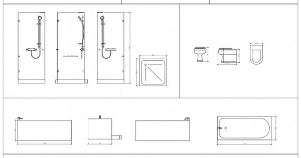 Free cad blocks from first in architecture bathrooms for Arquitectura de interiores pdf