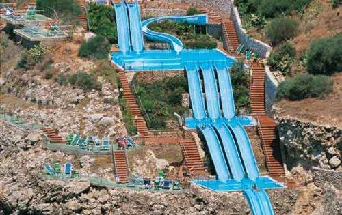 Citta del Mare hotel in Sicily - water slide right into the