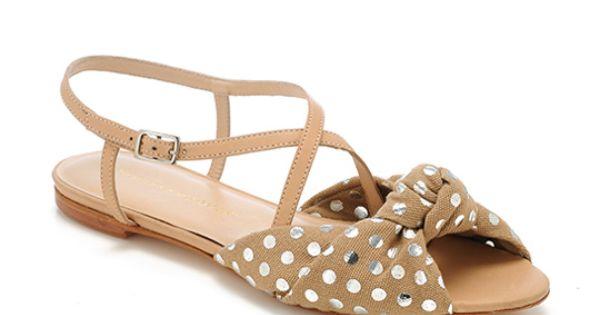 Flat polka dot sandals