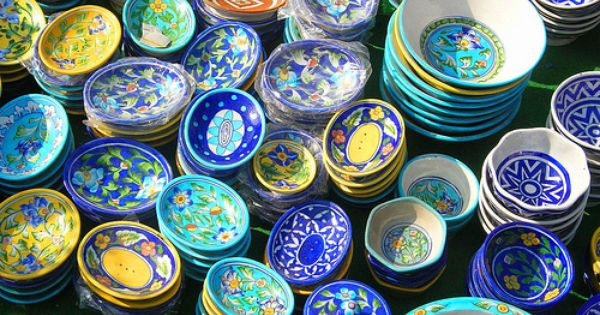 Rajasthan Pottery Blue Pottery Blue Color Meaning Pottery