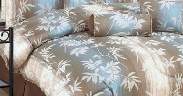 7 Pc Jacquard Bamboo Bedding Comforter Set In King Brown