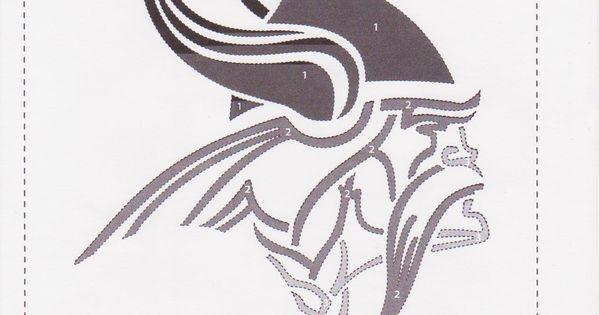 Minnesota vikings pumpkin stencil pinterest