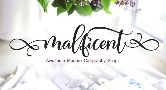 Malficent Script font – great for product logo,wedding card logo, Banner, Graphic design, clothing brand logo.