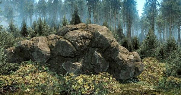 [Next-Gen] Forest Rock – 3D Rendered