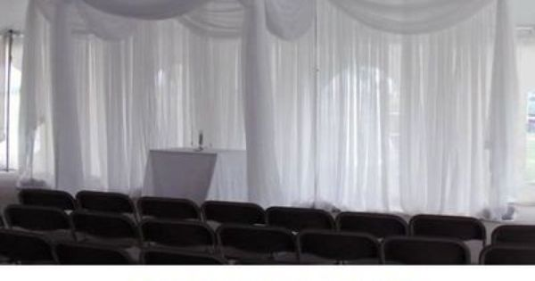 10ft Tall Sheer Curtain For Draping Wedding Backdrop Party Drape
