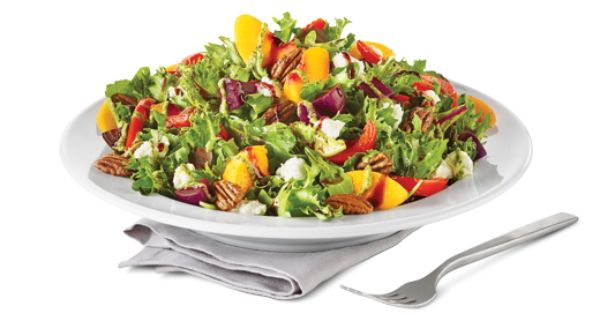 Recipe Makeover Boston Pizza Roasted Beet Peach Salad Recipe Roasted Beets Beet Salad Recipes Clean Eating Salads