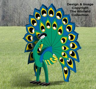 3d Peacock Pattern Wood Yard Art Woodworking Plans Patterns