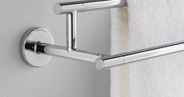 Delta Trinsic 24 In Double Towel Bar In Chrome 75925 The Home Depot Towel Bar Modern Towel Bars Chrome Towel Bar